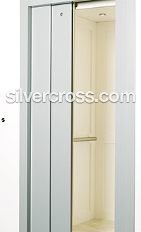 Home Elevator Slim Door | Silver Cross