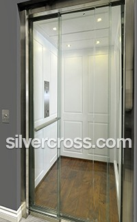 Eclipse Elevator Glass Sliding Door Savaria | Silver Cross