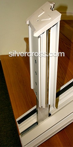 Straight Stair Lifts Flip-up rail | Zero Intrusion | Silver Cross
