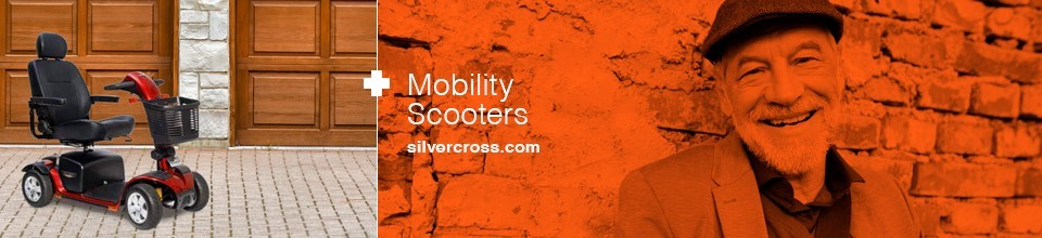 Silver Cross mobility scooter banner