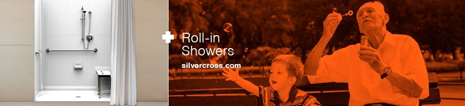 Silver Cross roll in showers banner